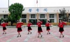 惠汝广场舞歌在飞 正面演示 集体舞