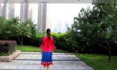 叶子广场舞美丽的雪山姑娘 分解动作教学与背面演示