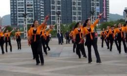 俏木兰广场舞舞动中国 团体版 俏木兰舞队建队十年庆典开场舞