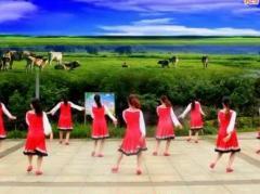 春英广场舞再唱山歌给党听 背面演示与口令分解动作教学