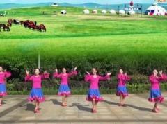 春英广场舞相约那达慕 正背面演示与口令分解动作教学 春英原创编排