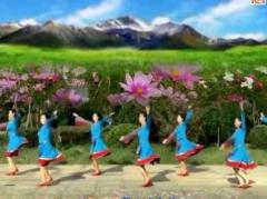 春英广场舞幸福西藏 正背面演示与口令分解动作教学