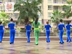 杨丽萍广场舞因为爱着你 正背面演示与口令分解动作教学 步子舞