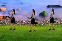 蓝天云广场舞溜溜的她