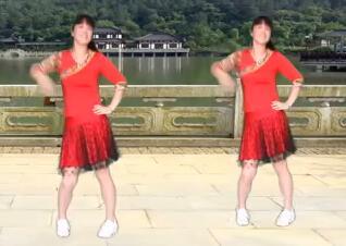 太湖一莲广场舞暖暖的幸福 正背面演示与分解教学