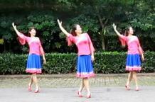 叶子广场舞康巴情 正背面演示与分解动作教学