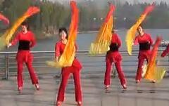 青儿广场舞最美中国红 含背面动作分解教学