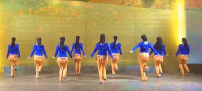 美久广场舞花桥流水 正背面演示与分解动作教学