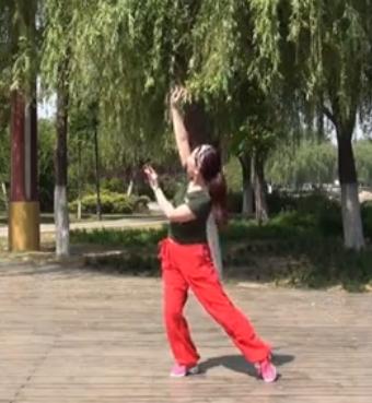 美久广场舞 桃花姑娘 单人水兵舞 含背面动作分解教学