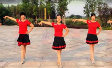 楚悦广场舞《 暖暖的幸福》含王梅背面演示