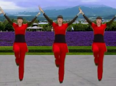彩虹云子广场舞《映山红》
